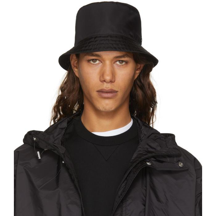 Prada Black Nylon Bucket Hat Prada 45f4ba6d2e6