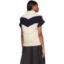 3.1 Phillip Lim Off-White and Navy Wool Chevron Vest