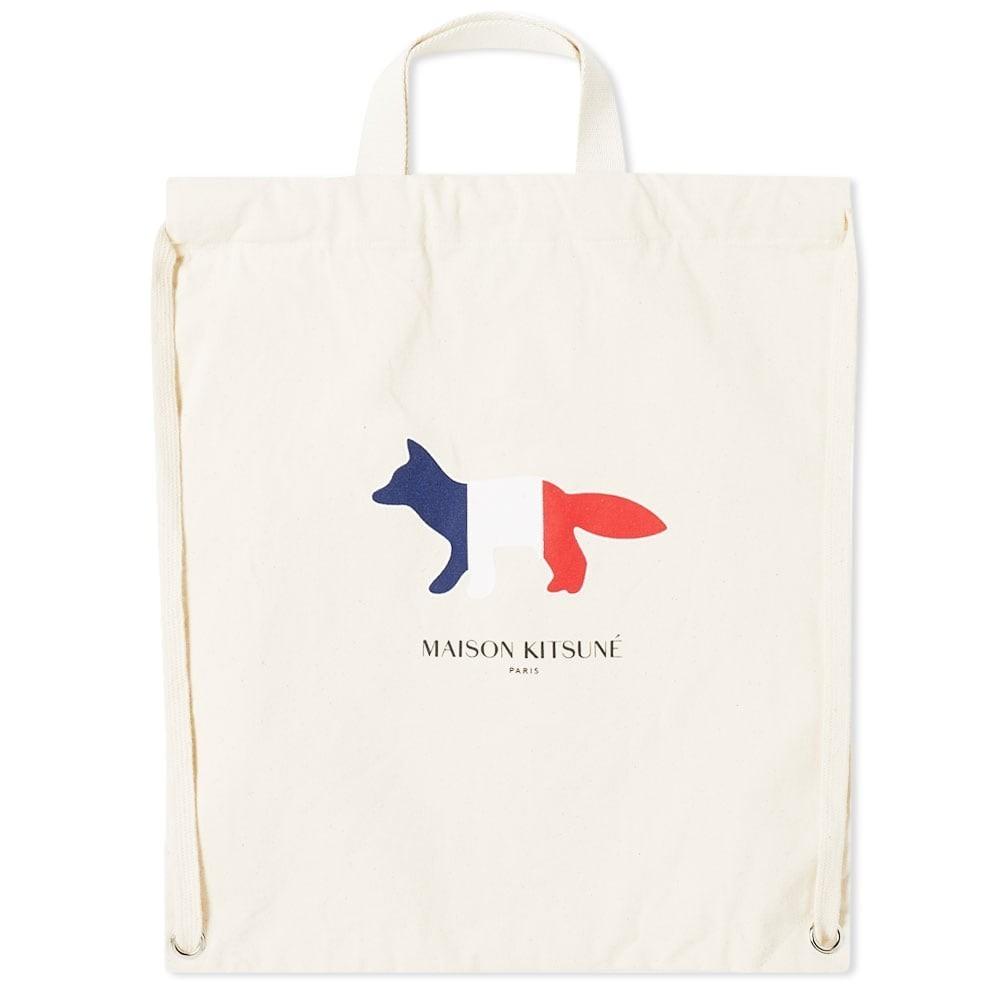 Photo: Maison Kitsuné Tricolor Fox Tote Backpack