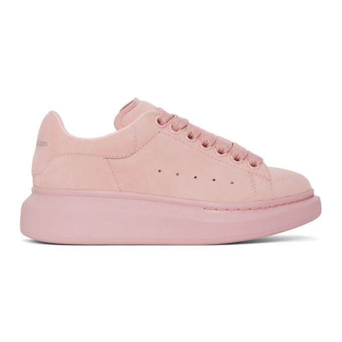 Alexander McQueen Pink Suede Oversized