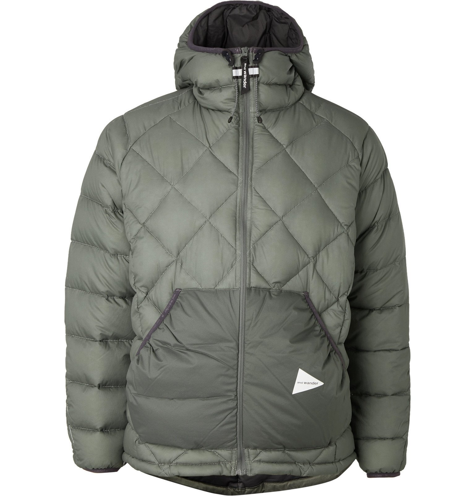 Photo: And Wander - Quilted Nylon Hooded Down Jacket - Green