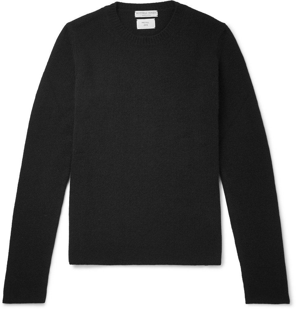 Photo: Bottega Veneta - Slim-Fit Cashmere Sweater - Black