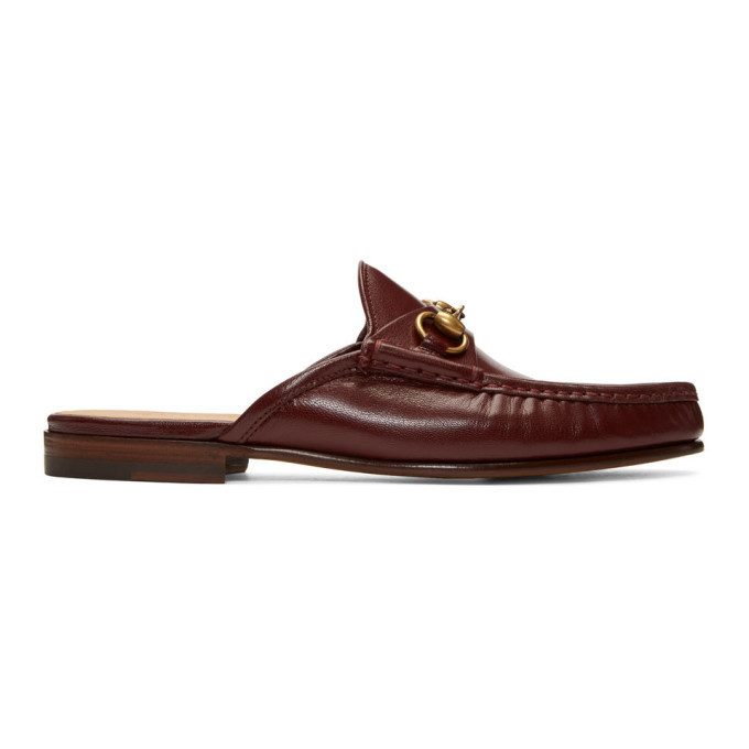 Photo: Gucci Burgundy Roos Slip-On Loafers