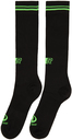 Martine Rose Black & Green Whitworth Socks