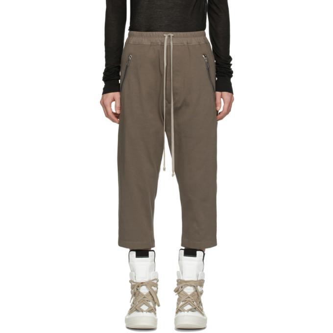 Photo: Rick Owens Grey Tecuatl Cropped Sweatpants