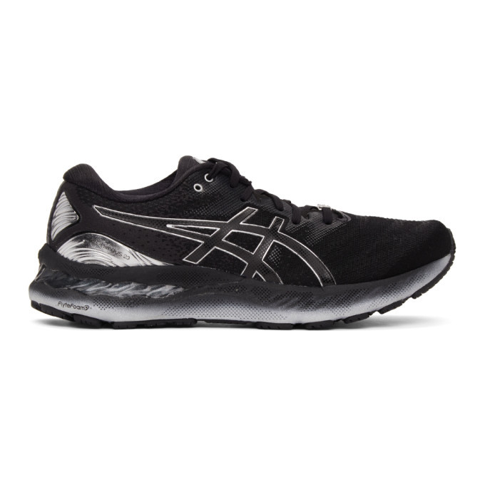 Photo: Asics Black and Silver Gel-Nimbus 23 Platinum Sneakers