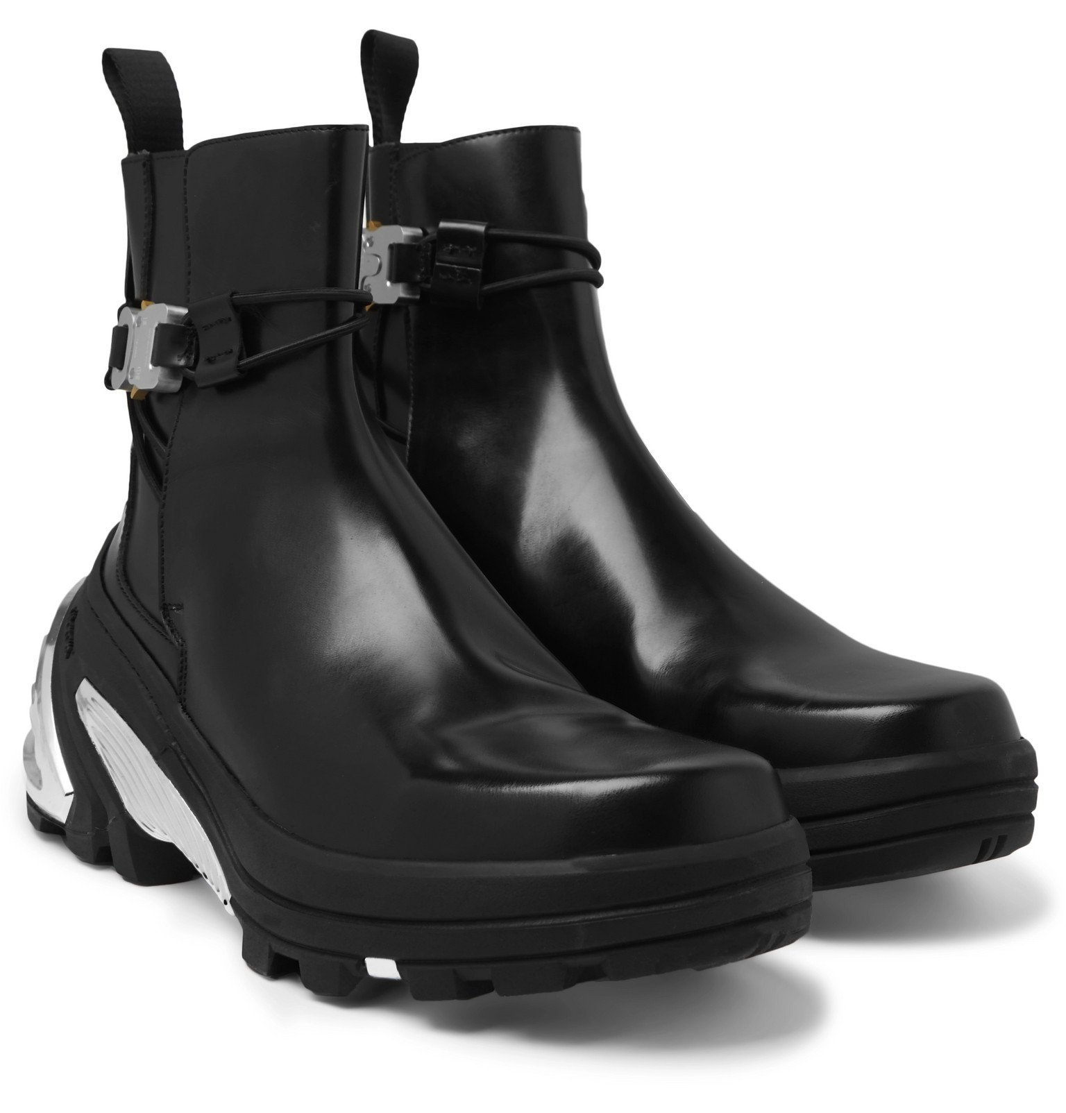 Photo: 1017 ALYX 9SM - Leather and Silver-Tone Chelsea Boots - Black