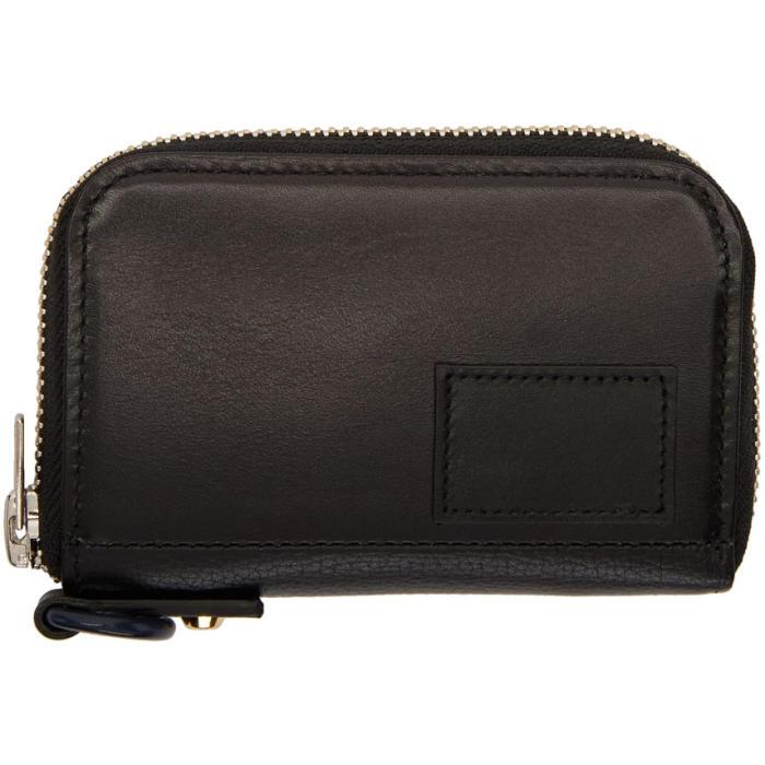 Sacai Black Coin Pocket Card Holder