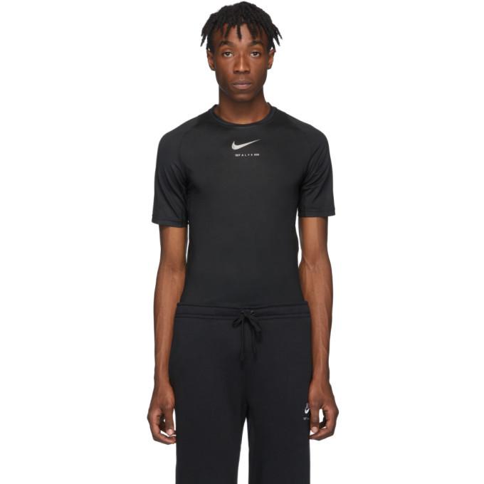 Photo: 1017 ALYX 9SM Black Nike Edition Logo T-Shirt