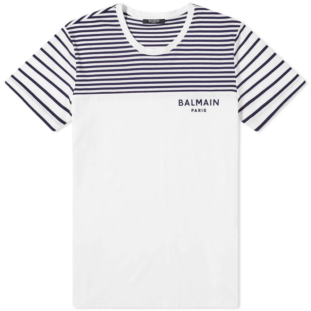 Photo: Balmain Logo Mariniere Tee