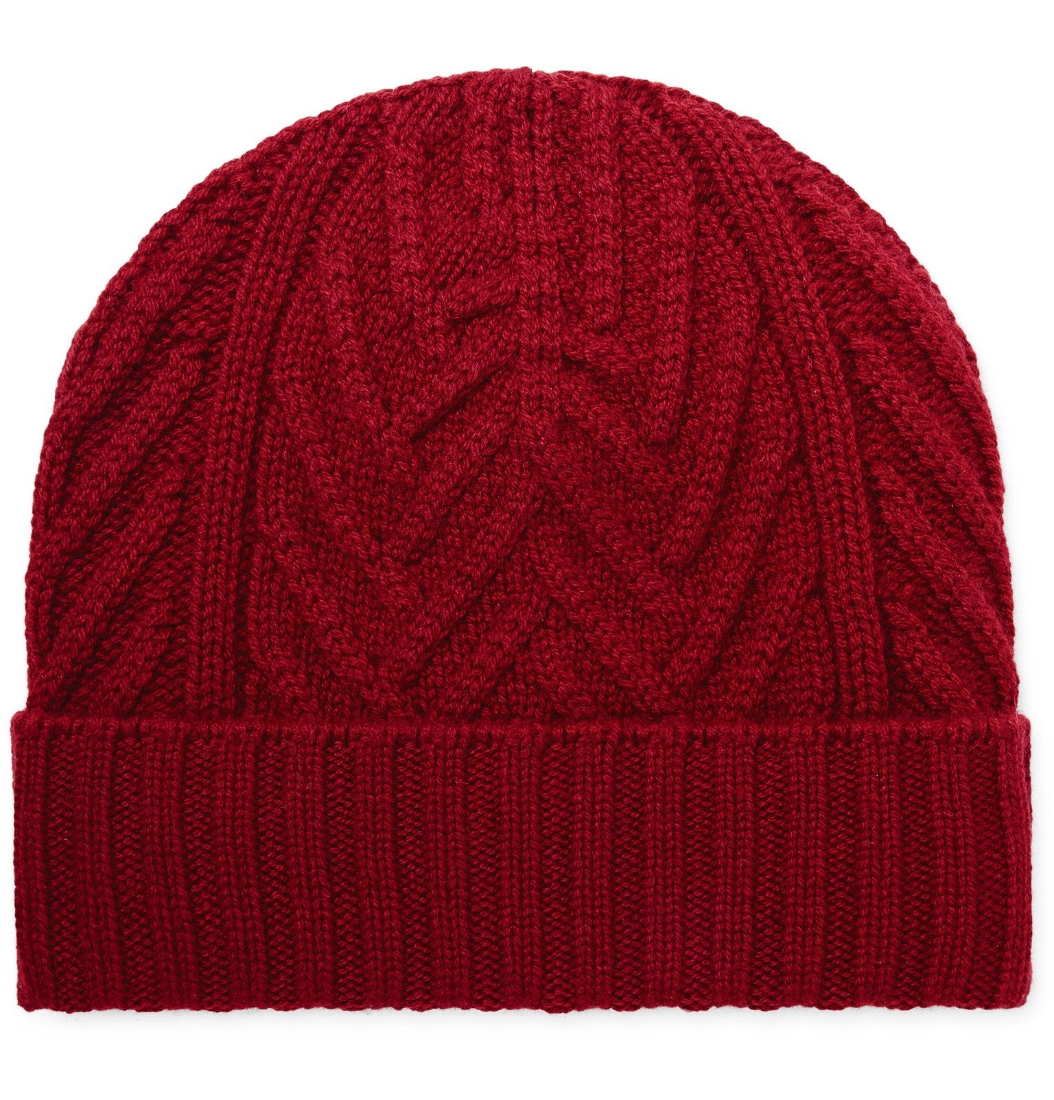 Photo: Loro Piana - Cable-Knit Baby Cashmere Beanie - Red