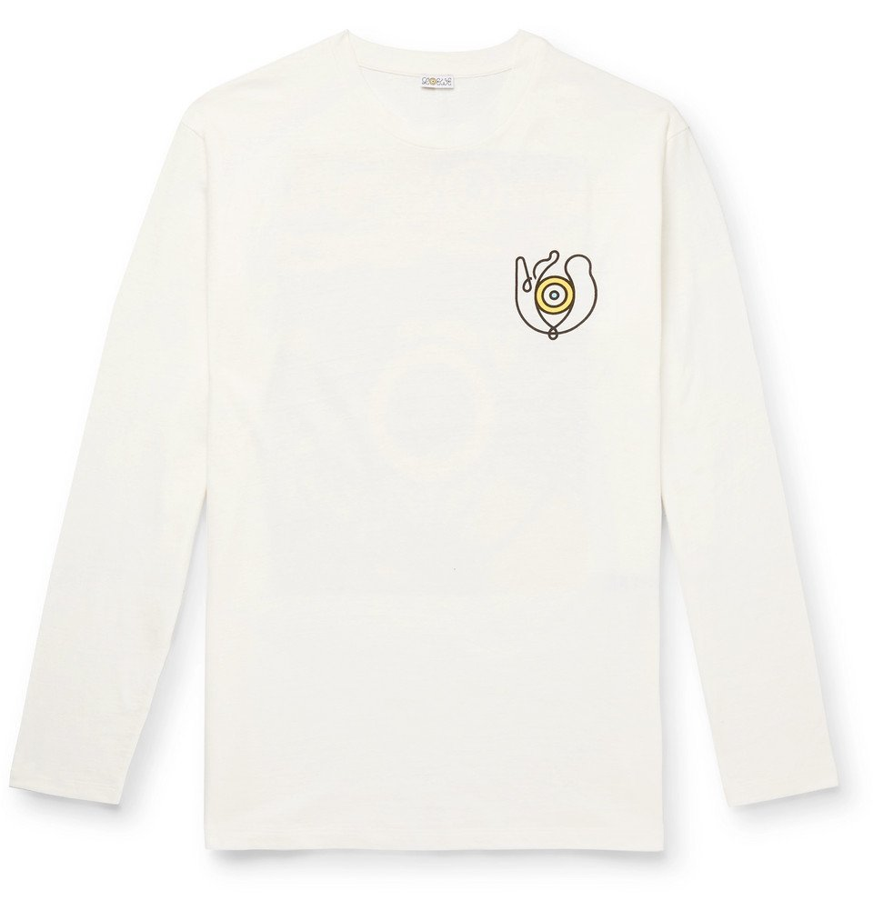 Photo: Loewe - Eye/LOEWE/Nature Printed Cotton-Jersey T-Shirt - White