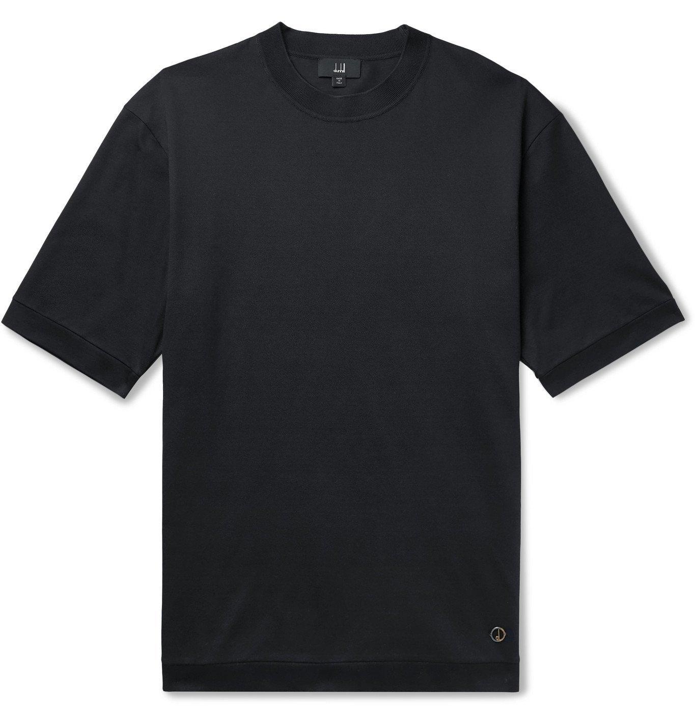 Dunhill - Cotton-Piqué T-Shirt - Blue