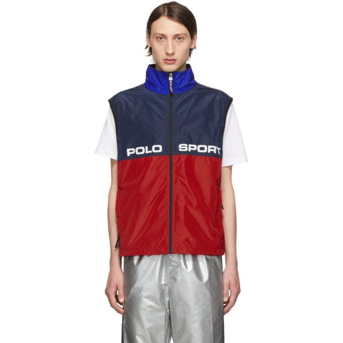 Photo: Polo Ralph Lauren Red and Navy Logo Vest