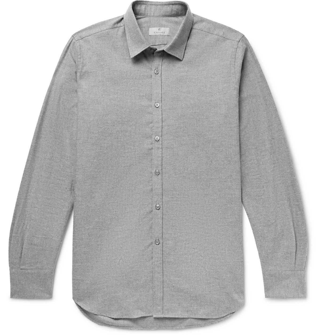 Photo: Canali - Cotton-Flannel Shirt - Gray