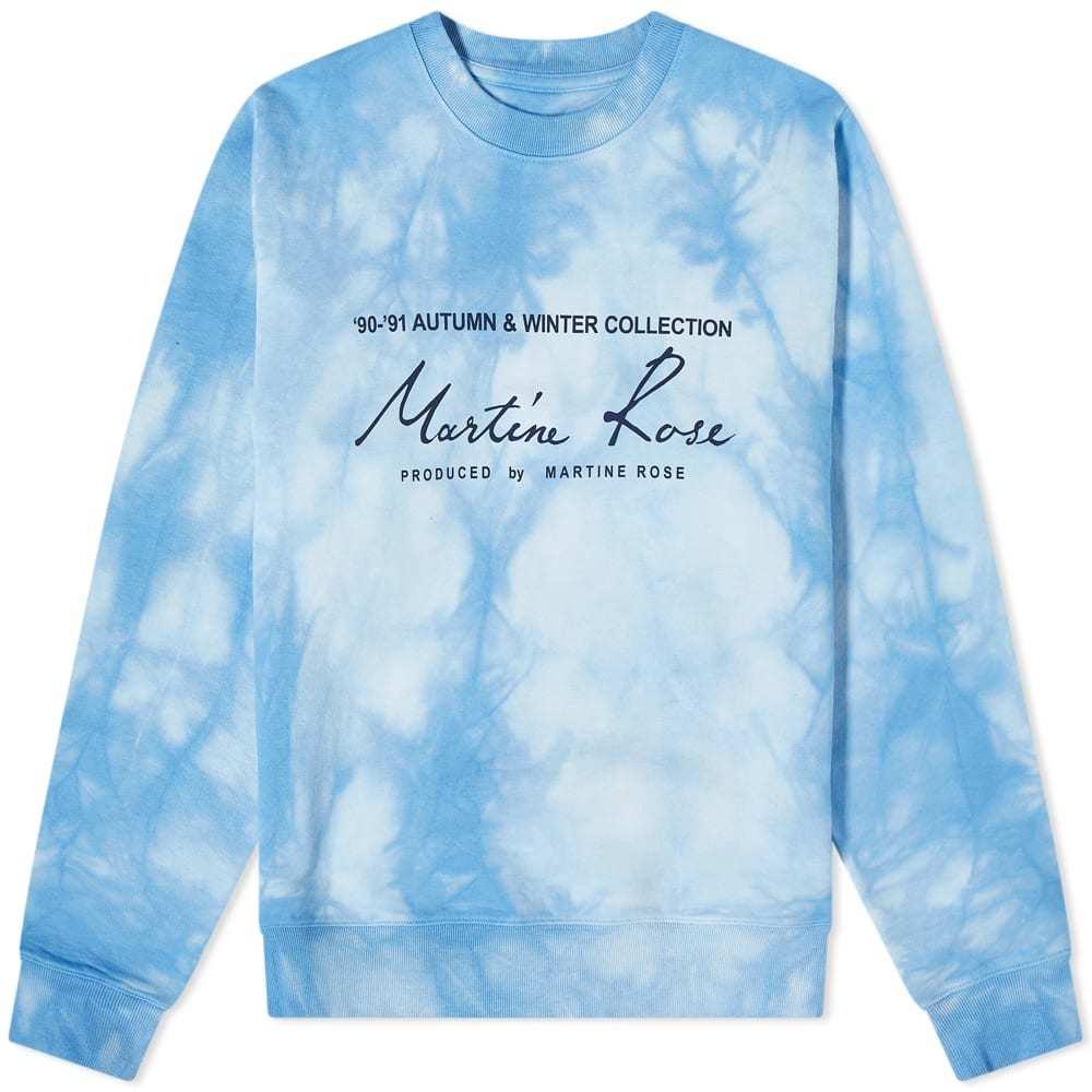 Martine Rose Tie Dye Logo Crew Sweat