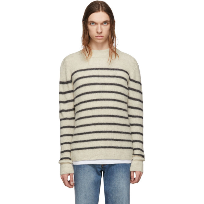 Photo: Isabel Marant Off-White and Grey Alpaca Wool George Jumper Sweater