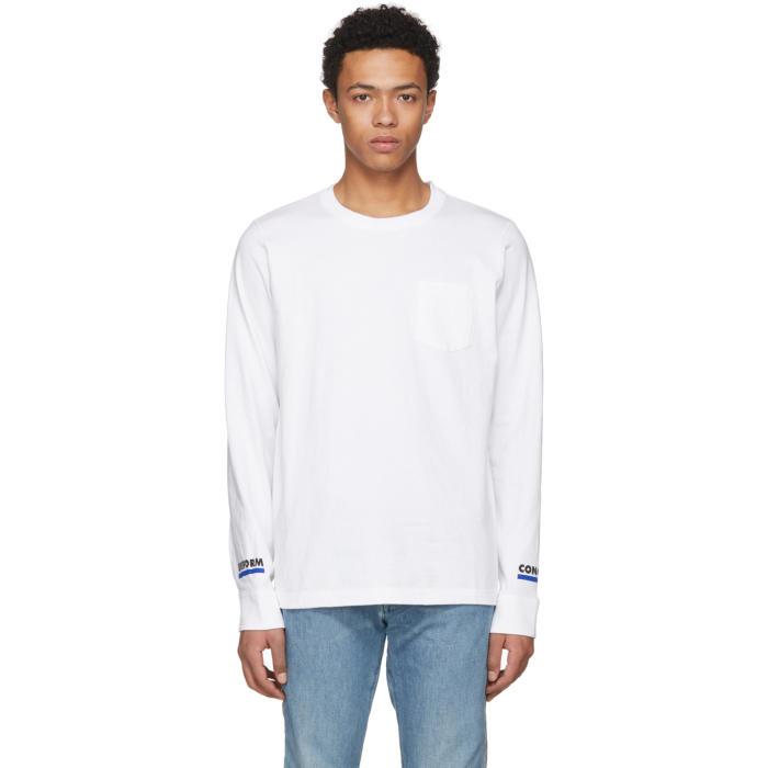 Sacai White Long Sleeve Uniform Conquest T-Shirt