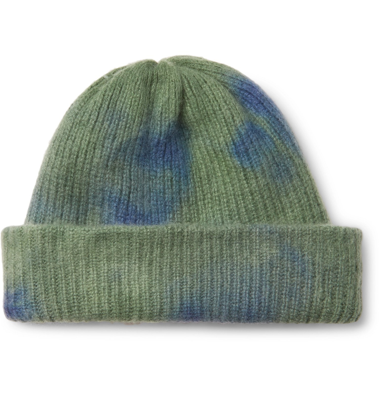 Photo: The Elder Statesman - Tie-Dye Cashmere Beanie - Blue