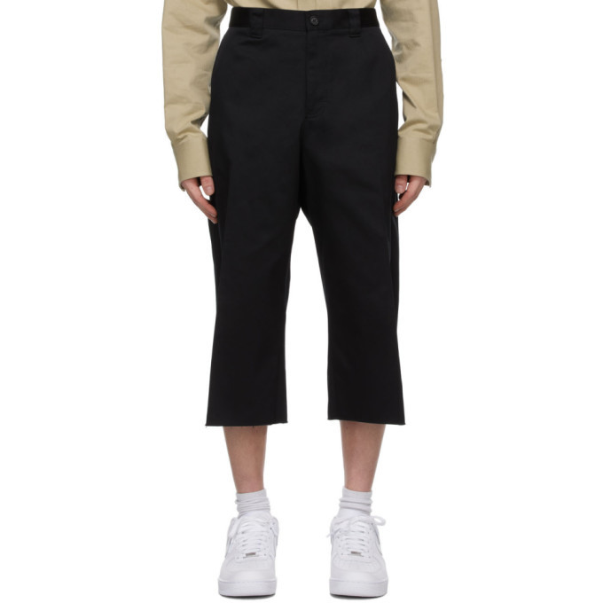Photo: Versace Black Raw Edge Shorts