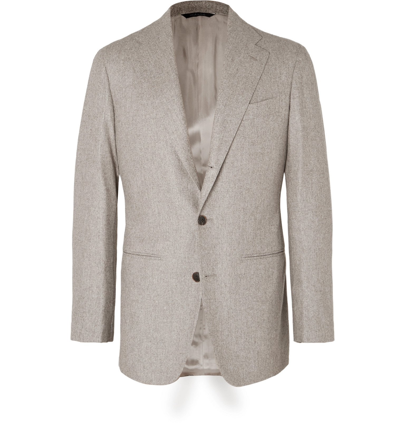 Photo: Saman Amel - Beige Unstructured Mélange Wool Suit Jacket - Neutrals
