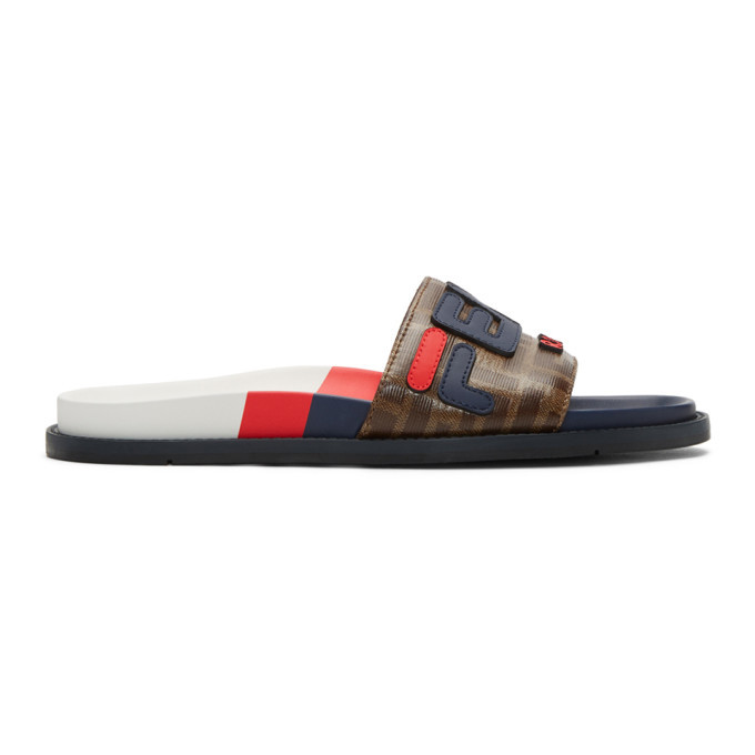 Photo: Fendi Multicolor Fendi Mania Slides