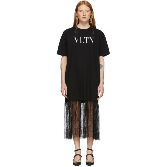 Photo: Valentino Black VLTN T-Shirt Dress