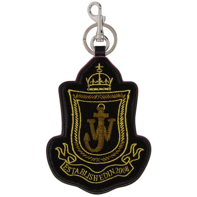 Photo: JW Anderson Black Shield Patch Keychain