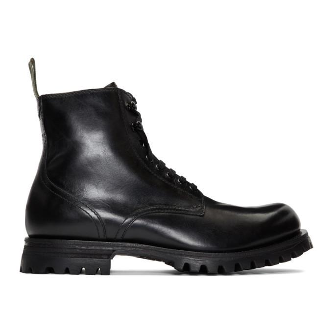 Photo: Officine Creative Black Rushden 4 Boots