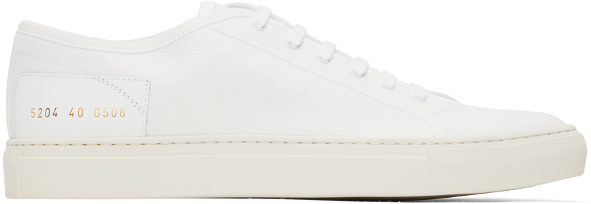 Photo: Common Projects White Tournament Low Sneakers