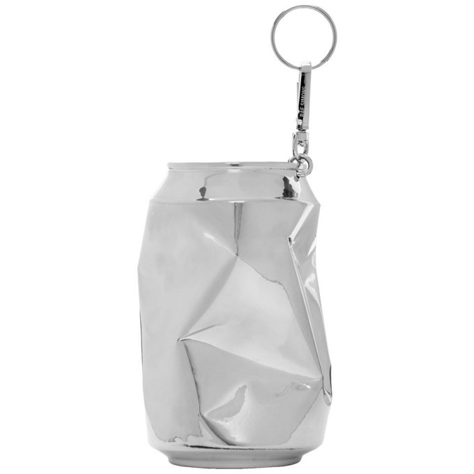 Photo: Raf Simons Silver Half Crushed Can Keychain