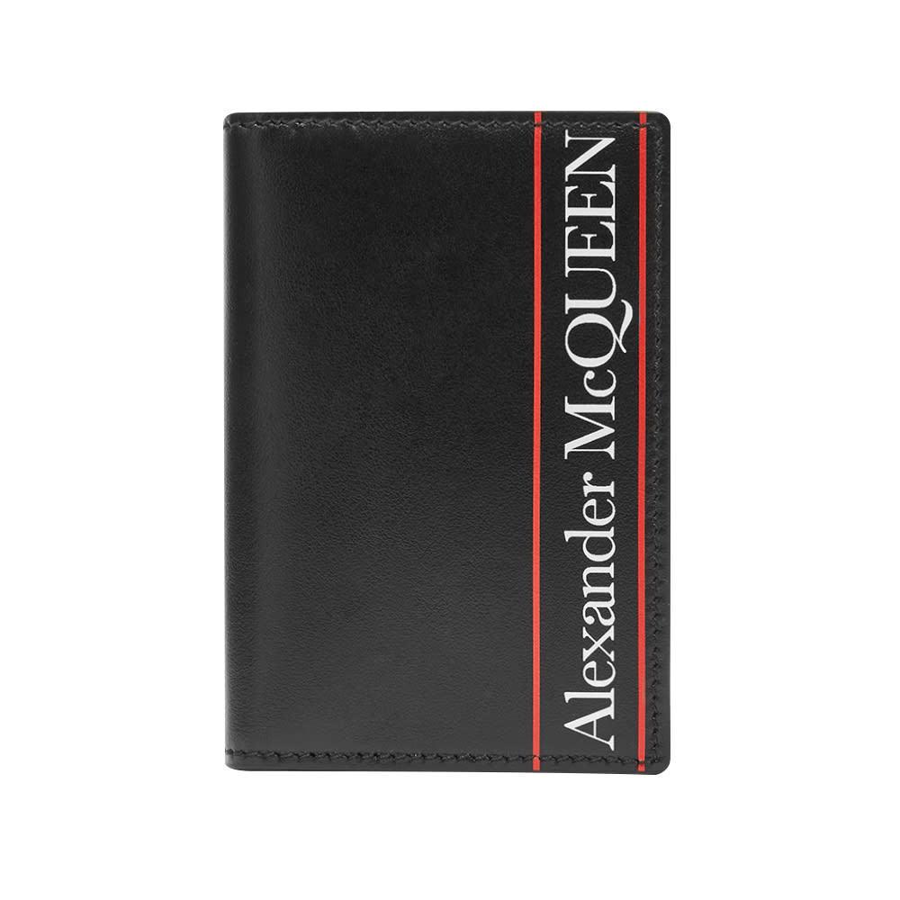 Photo: Alexander McQueen Tape Logo Billfold Card Holder