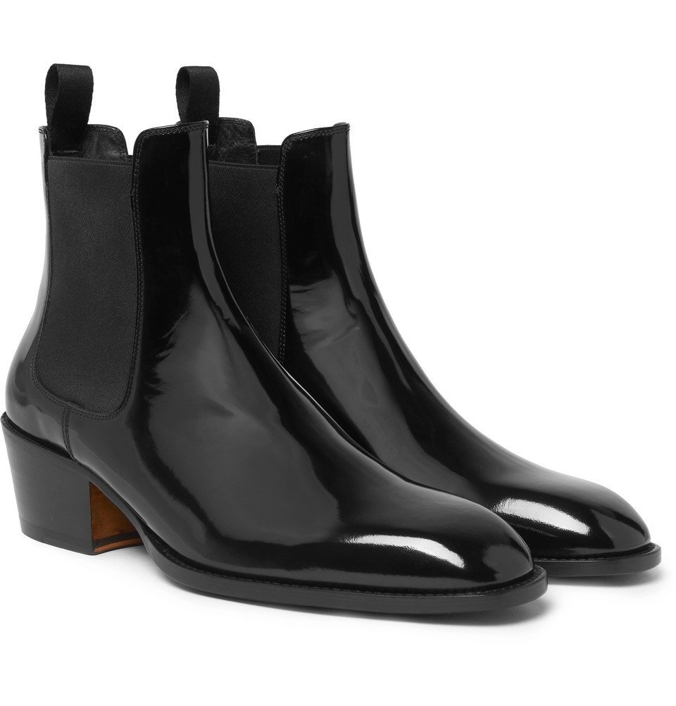 Photo: TOM FORD - Webster Patent-Leather Chelsea Boots - Men - Black
