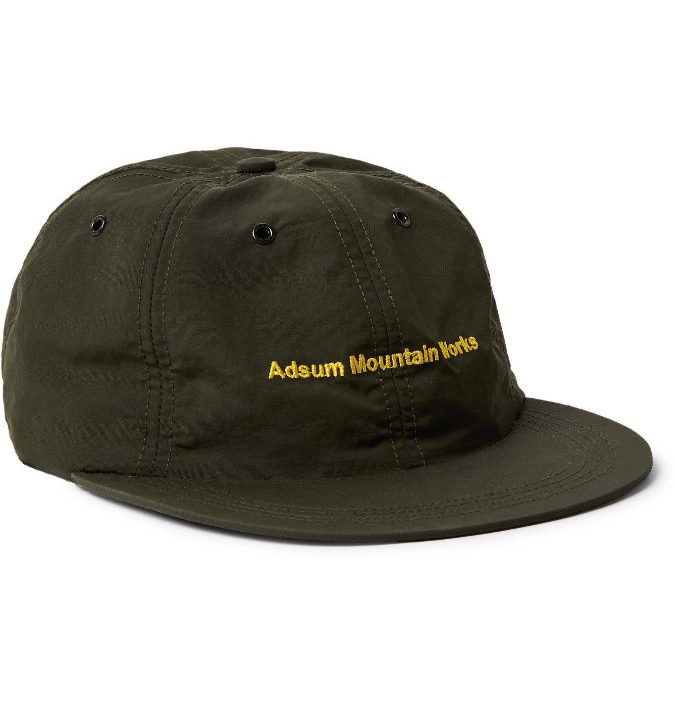 Photo: Adsum - Embroidered Nylon-Taffeta Baseball Cap - Green