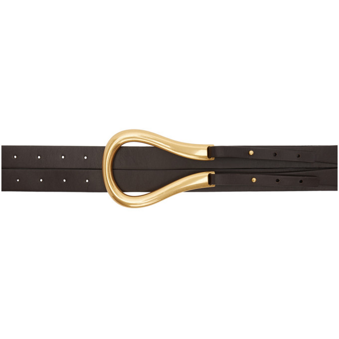 Photo: Bottega Veneta Brown Double Strap Belt