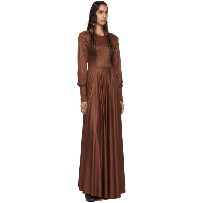 Lemaire Brown Jersey Long Dress