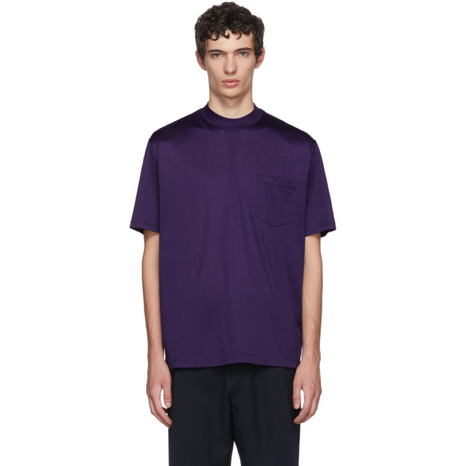 Photo: Lanvin Indigo High Collar T-Shirt