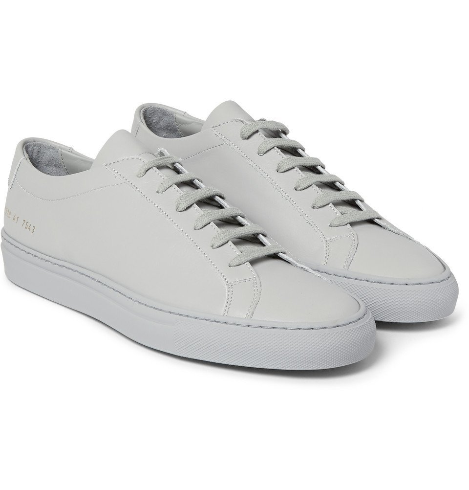 Common Projects - Original Achilles Leather Sneakers - Men - Light gray