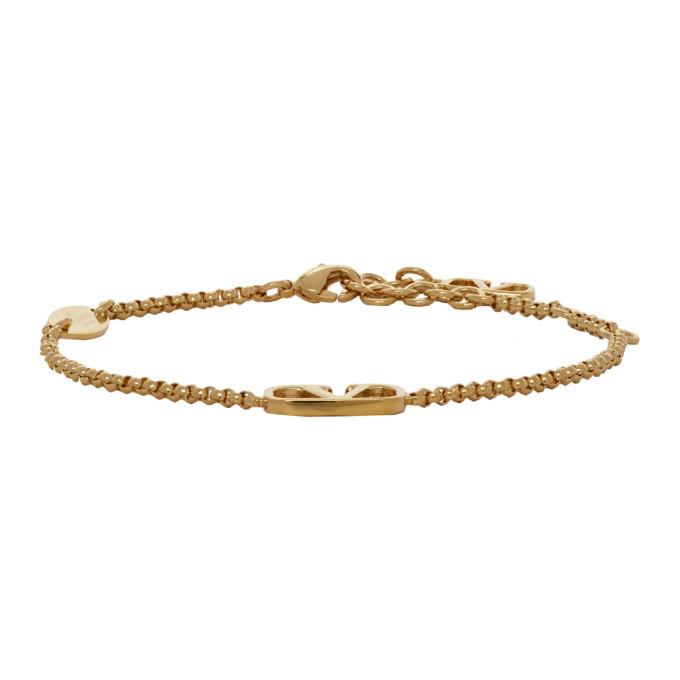 Photo: Valentino Gold Valentino Garavani VLogo Chain Bracelet