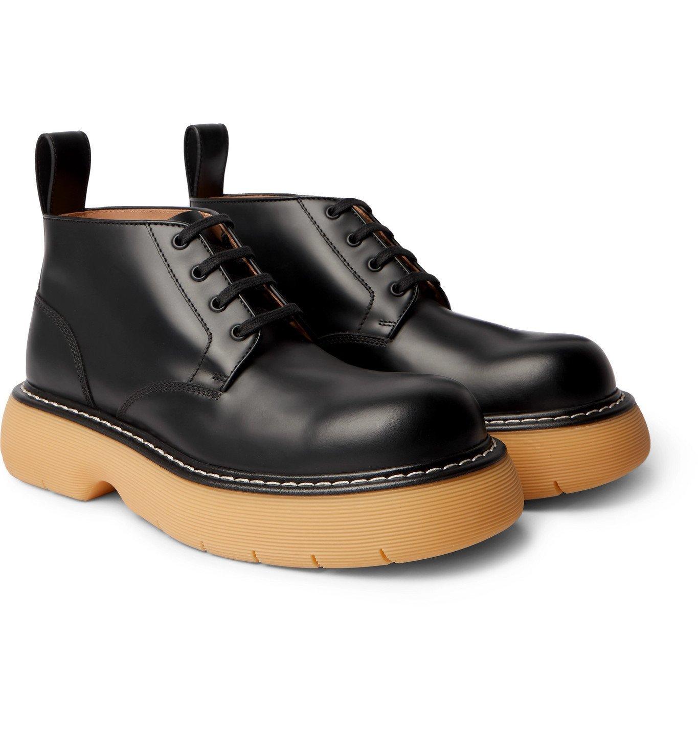 Photo: BOTTEGA VENETA - The Bounce Leather Boots - Black