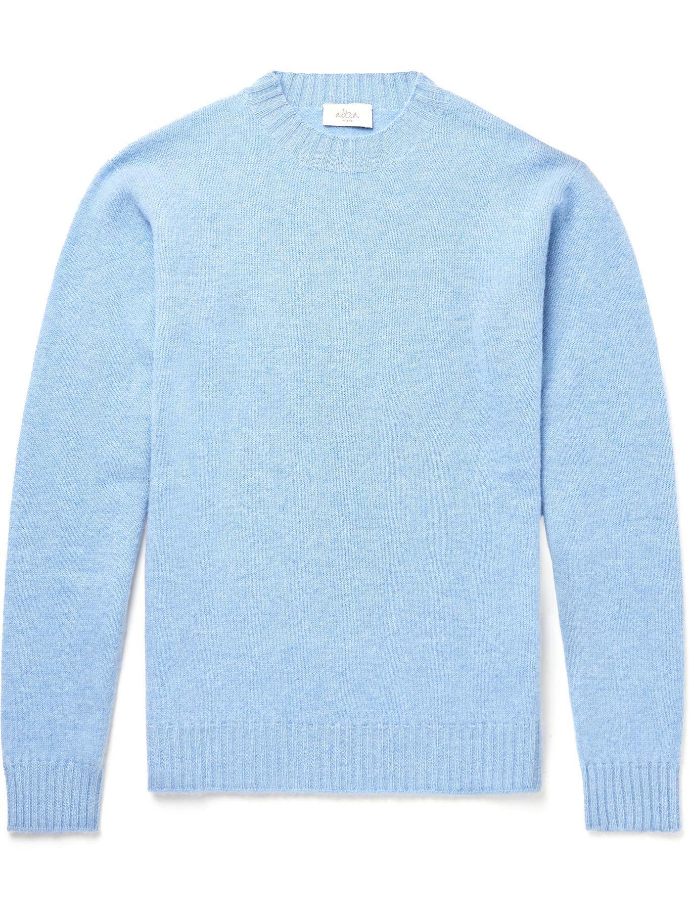 Photo: ALTEA - Virgin Wool and Cashmere-Blend Sweater - Blue