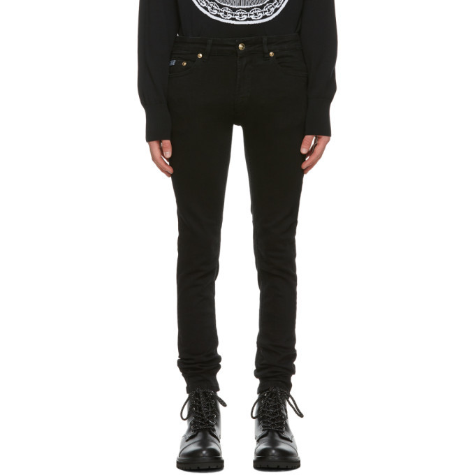Photo: Versace Jeans Couture Black Five-Pocket Jeans