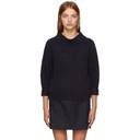3.1 Phillip Lim Navy Rib Knit Alpaca Sweater