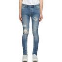 Ksubi Blue Van Winkle Rage Ripped Jeans