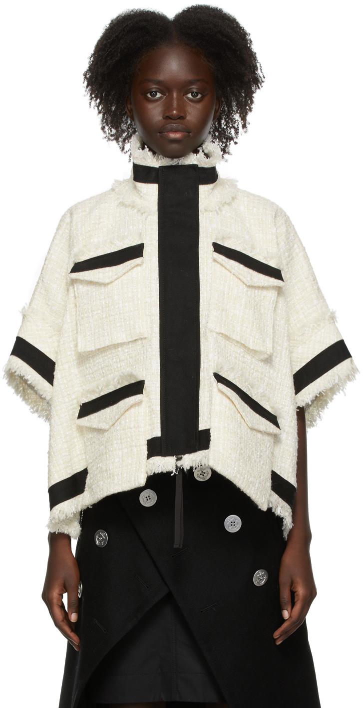 Sacai Off-White Tweed Jacket