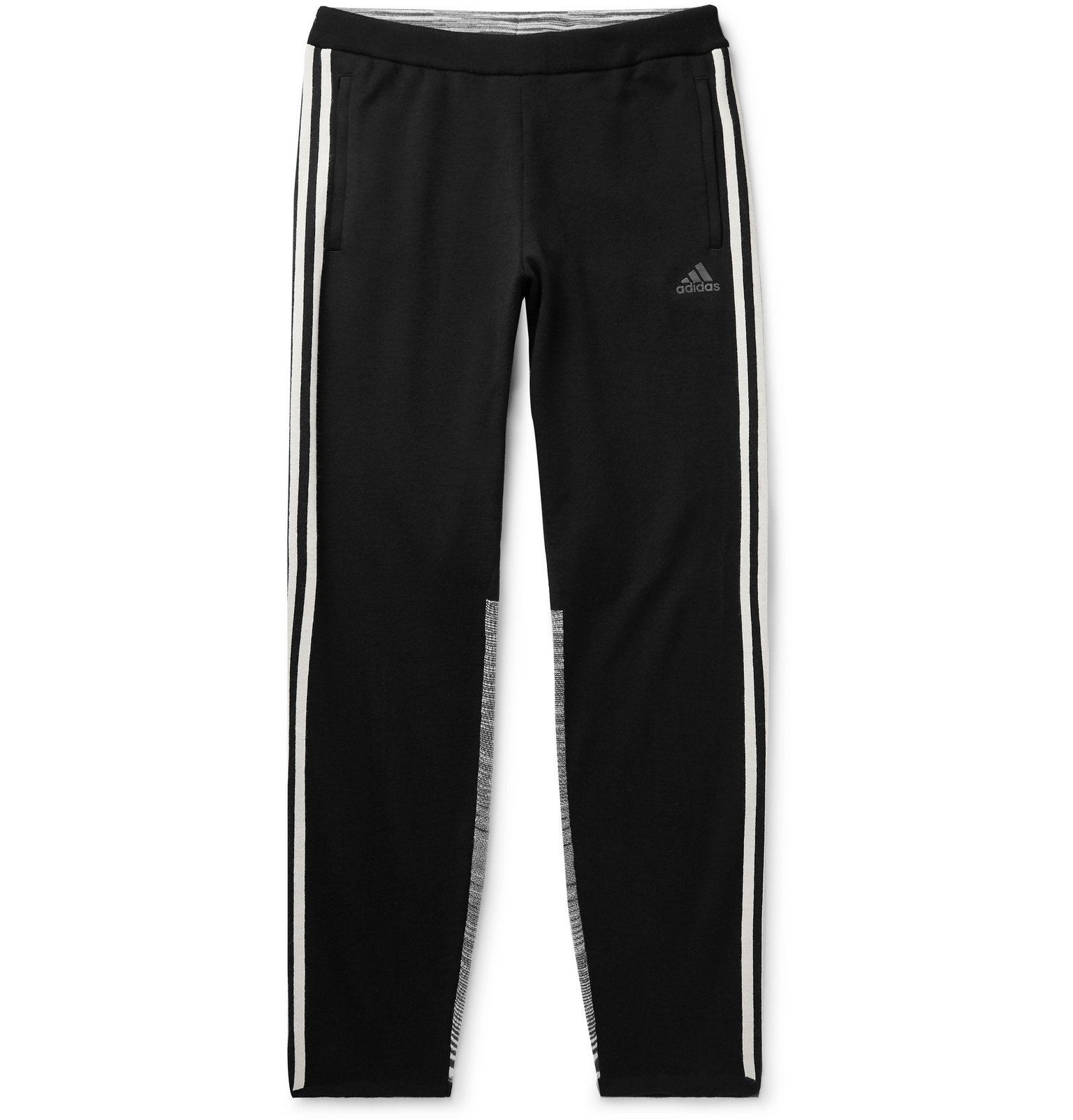 Photo: adidas Consortium - Missoni Tech-Jersey and Space-Dyed Stretch-Knit Sweatpants - Black