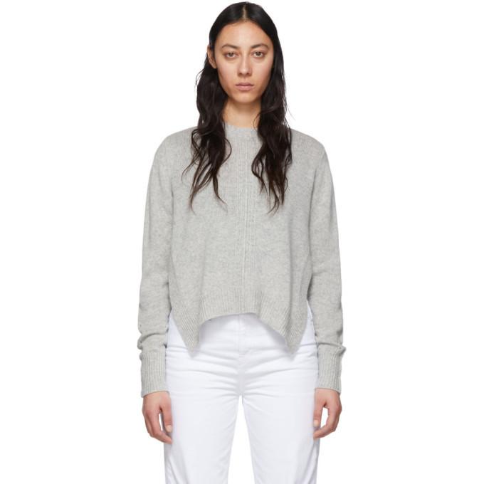 Photo: Isabel Marant Grey Cashmere Chinn Crewneck Sweater