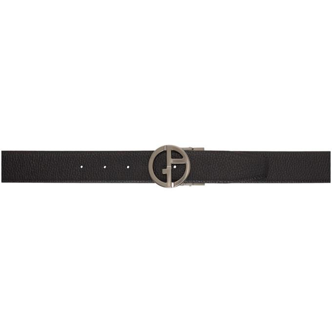 Giorgio Armani Black Leather Belt
