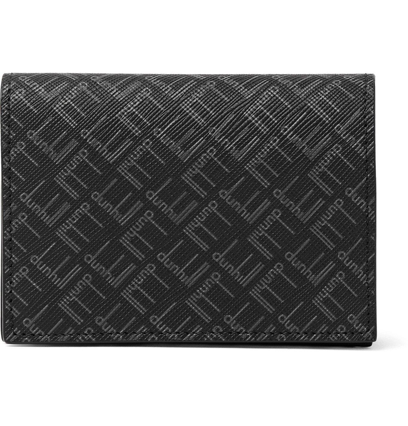 Dunhill - Logo-Print Coated-Canvas Bifold Cardholder - Black