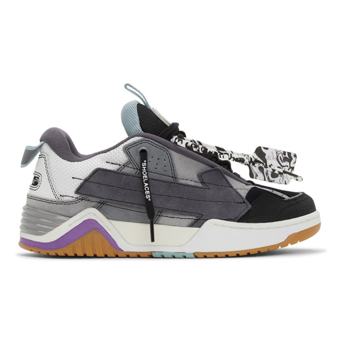 Photo: Off-White Black and Grey Arrow Skate Sneakers